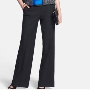 Lafayette dark grey wool wide leg trousers